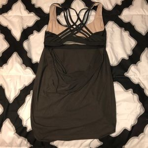Lululemon olive green tank top